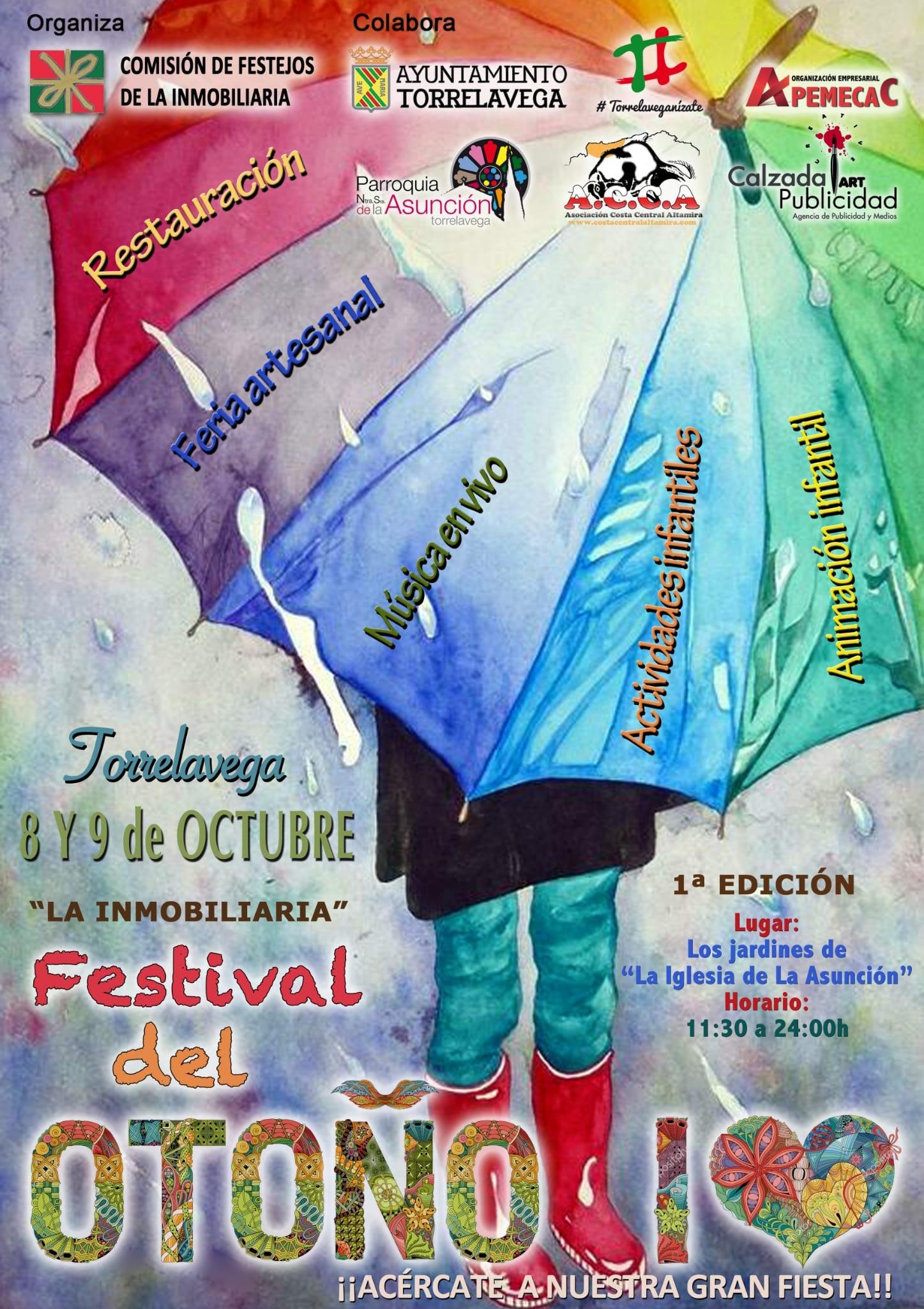 Festival del Otoño - Torrelavega. Feria de Artesanía, restauración. Actuaciones. Actividades con niños. 8 y 9 de Octubre