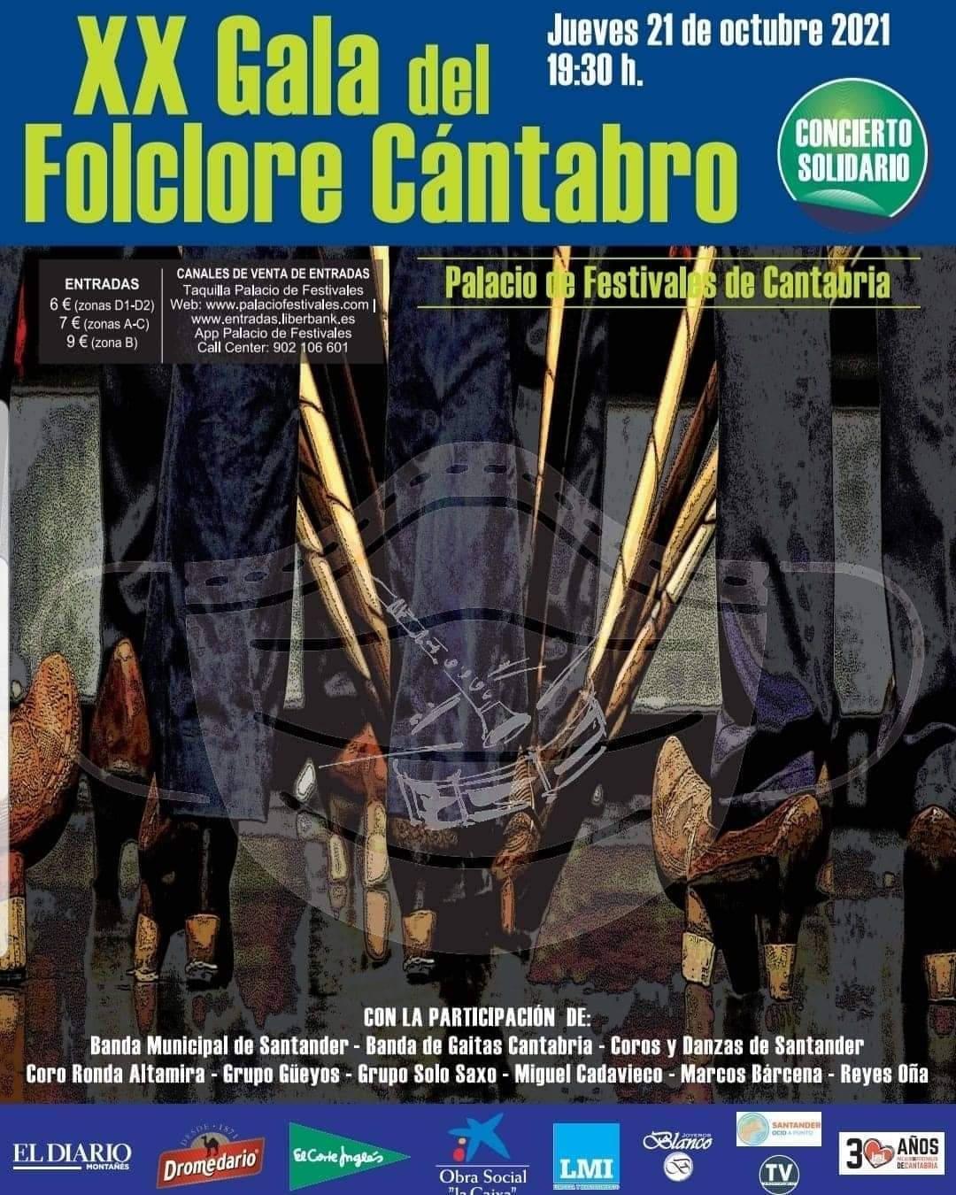 XX Gala del Folklore Cántabro