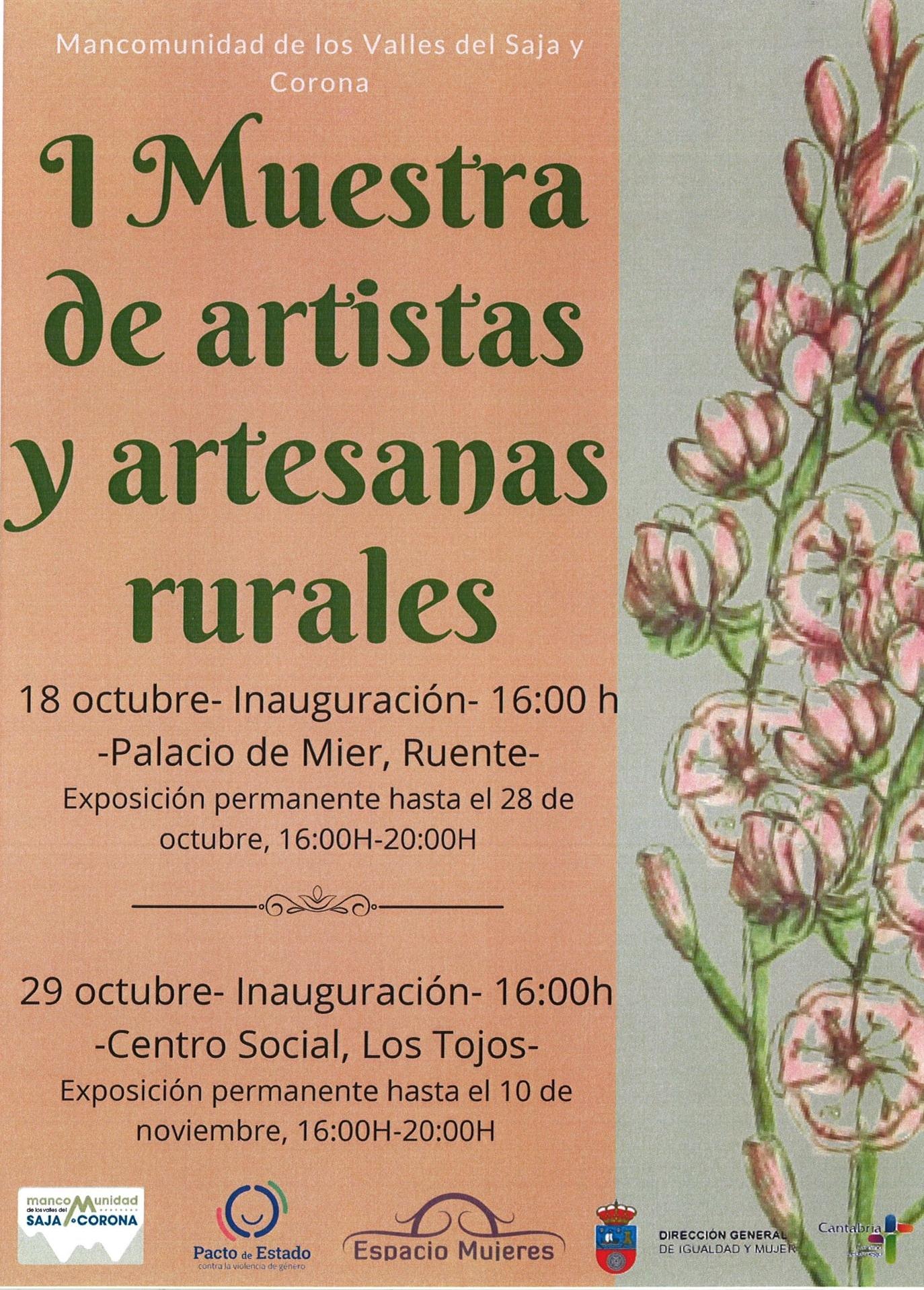 I Muestra de artistas y artesanas rurales